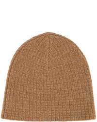 Bonnet en tricot brun Caramel