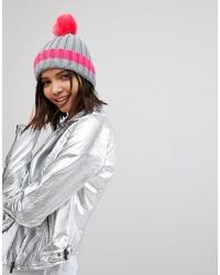 Bonnet en tricot fuchsia Brave Soul