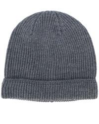 Bonnet en tricot gris foncé Canali