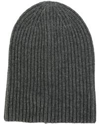Bonnet en tricot gris foncé Dondup