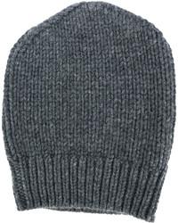 Bonnet en tricot gris foncé Eleventy
