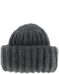 Bonnet en tricot gris foncé Federica Moretti