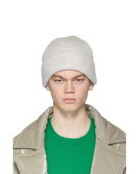 Bonnet en tricot gris Acne Studios