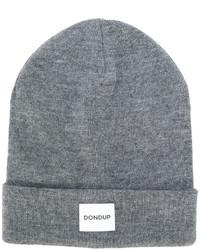 Bonnet en tricot gris Dondup