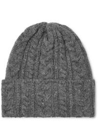 Bonnet en tricot gris Drake's