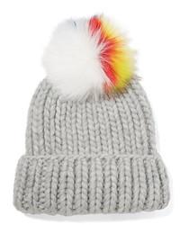 Bonnet en tricot gris Eugenia Kim
