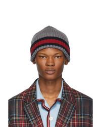 Bonnet en tricot gris Gucci