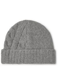 Bonnet en tricot gris Oliver Spencer