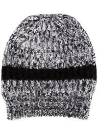 Bonnet en tricot gris Rochas