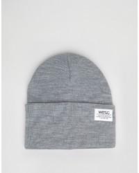 Bonnet en tricot gris Wesc