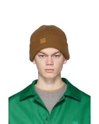 Bonnet en tricot marron clair Acne Studios