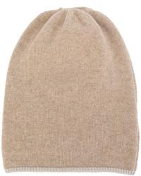 Bonnet en tricot marron clair Danielapi