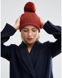 Bonnet en tricot marron Asos