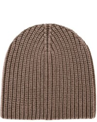 Bonnet en tricot marron Eleventy