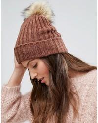 Bonnet en tricot marron Pieces