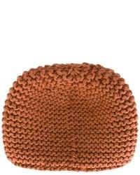 Bonnet en tricot marron Telfar
