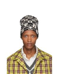 Bonnet en tricot noir et blanc Gucci