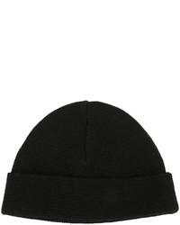 Bonnet en tricot noir AMI Alexandre Mattiussi