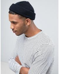 Bonnet en tricot noir ASOS DESIGN