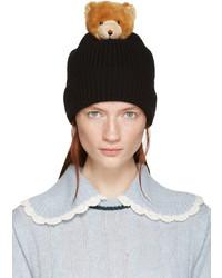Bonnet en tricot noir Dolce & Gabbana