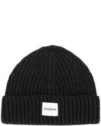 Bonnet en tricot noir Dondup
