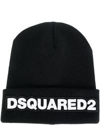 Bonnet en tricot noir DSQUARED2