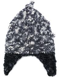 Bonnet en tricot noir Etro