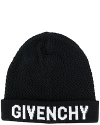 Bonnet en tricot noir Givenchy