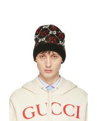 Bonnet en tricot noir Gucci