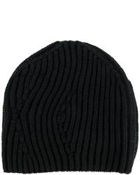 Bonnet en tricot noir Isabel Benenato