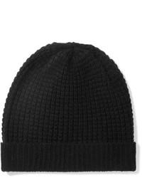 Bonnet en tricot noir Madeleine Thompson