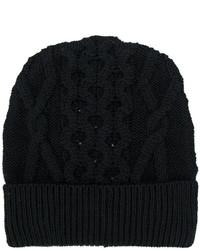 Bonnet en tricot noir Maison Margiela