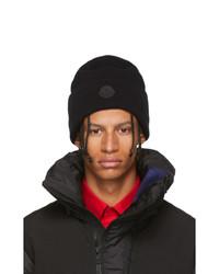 Bonnet en tricot noir Moncler
