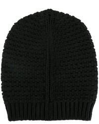 Bonnet en tricot noir Rick Owens