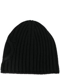 Bonnet en tricot noir Salvatore Ferragamo