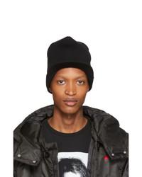 Bonnet en tricot noir Undercover