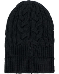 Bonnet en tricot noir Versace