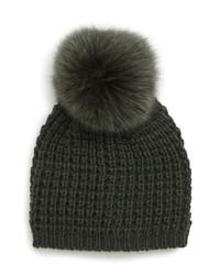 Bonnet en tricot olive