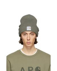 Bonnet en tricot olive A.P.C.