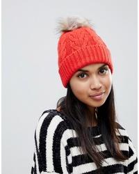 Bonnet en tricot orange Oasis