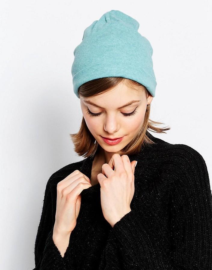 Bonnet en tricot turquoise Hat Attack