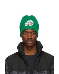 Bonnet en tricot vert Moncler
