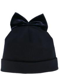 Bonnet en velours bleu marine Federica Moretti