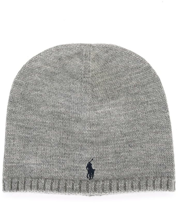 Bonnet gris Ralph Lauren