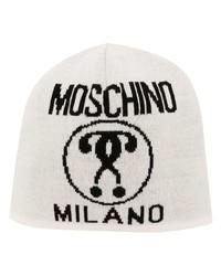 Bonnet imprimé blanc Moschino