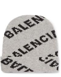 Bonnet imprimé gris Balenciaga