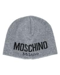 Bonnet imprimé gris Moschino