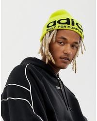 Bonnet imprimé jaune adidas Originals