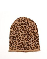 Bonnet imprimé léopard marron clair