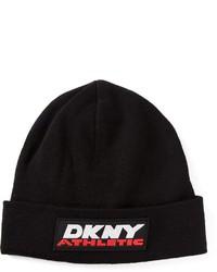 Bonnet imprimé noir et blanc DKNY